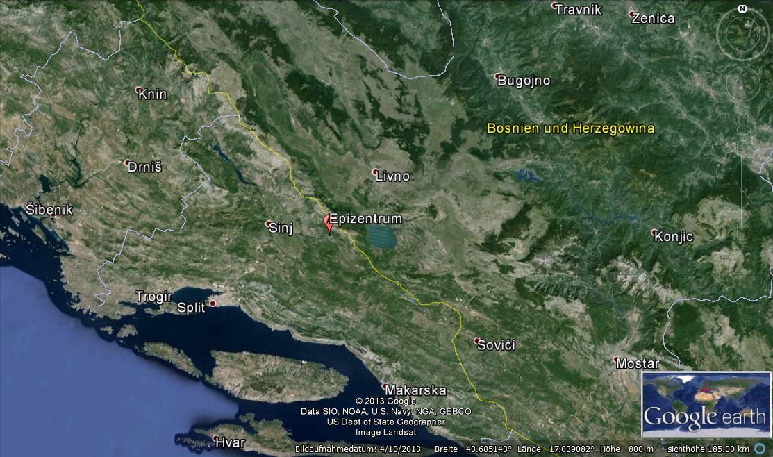 erdbeben in kroatien und bosnien herzegowina geb udesch den rund um sinj erdbebennews. Black Bedroom Furniture Sets. Home Design Ideas