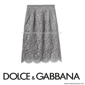 Crown Princess Mary Style DOLCE & GABBANA  Macrame Lace Skirt