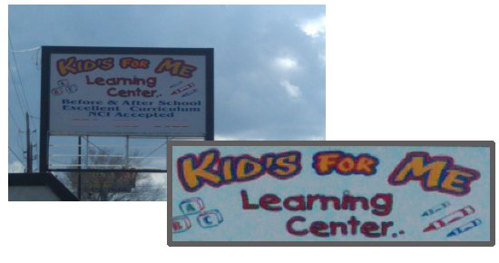 apostrophe mistake from a children's learning centre