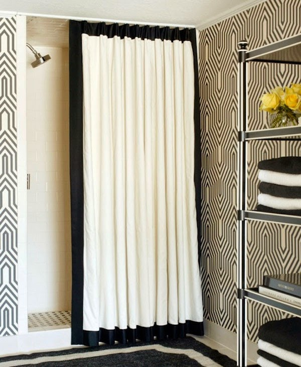 Shower Curtains At Bed Bath And Beyond curtain ideas: black white shower curtain bed bath beyond