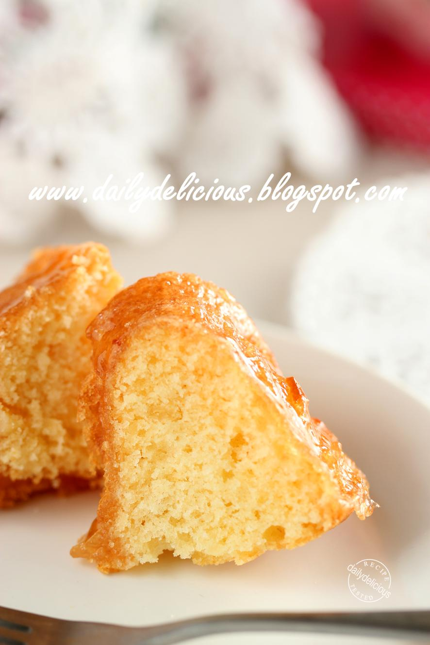 Marmalade Bundt Cake Scotch Custard Sauce