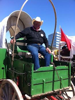 Roberto, a Hildago Texan Cowboy, who drove the Covered Wagon 386 miles/