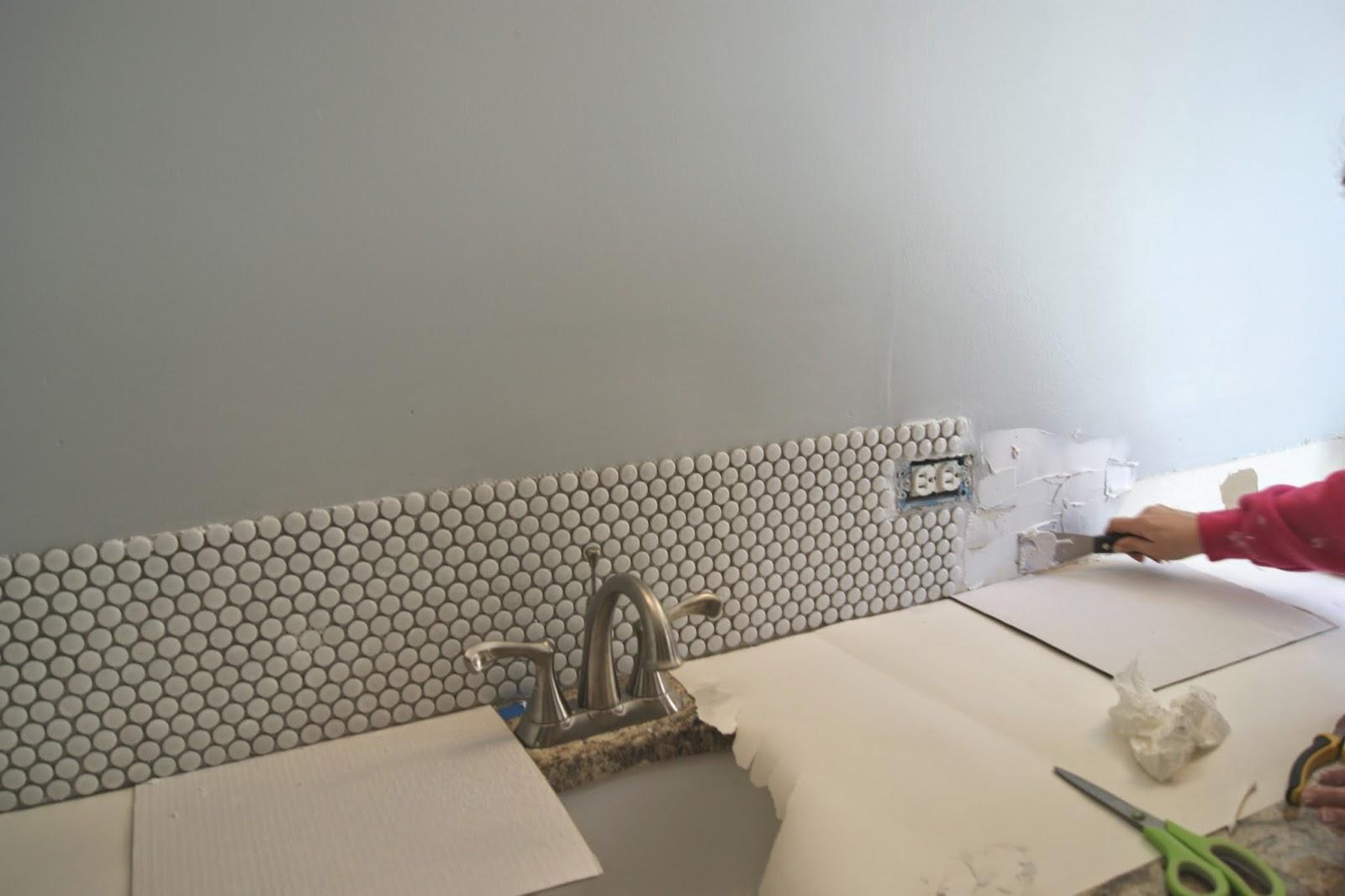Penny Tile Bathroom Backsplash Ellis Page