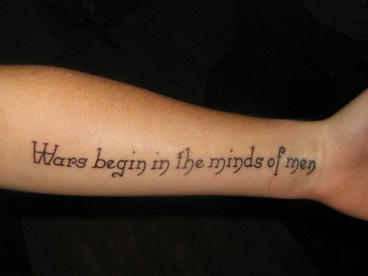 quotes about life tattoos. tattoos of quotes about life.