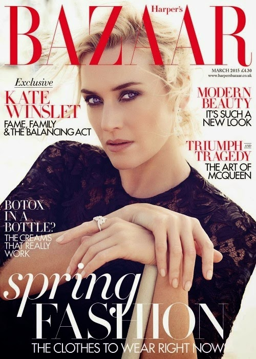 Kate Winslet covers Harper's Bazaar UK March 2015