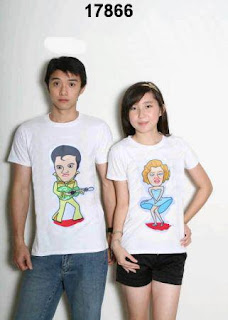 t-shirt couple elvis monroe white