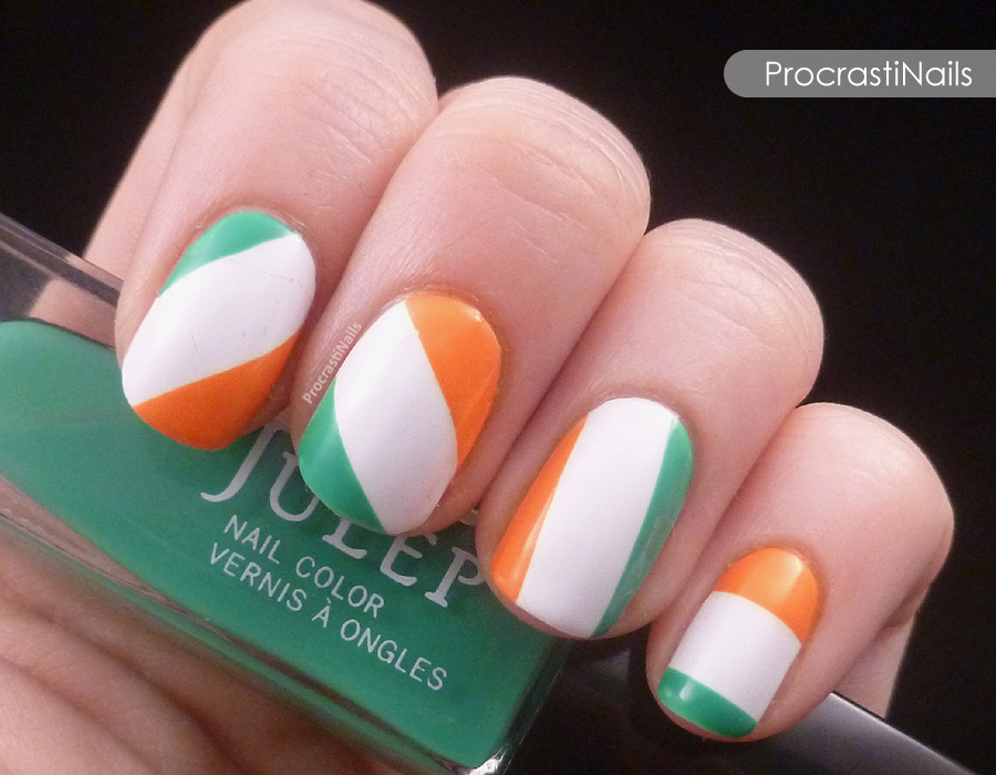Get Lucky Nail Art Challenge: Irish Flag or Irish Candy? Who knows! - Get Lucky Nail Art Challenge: Irish Flag Or Irish Candy? Who Knows