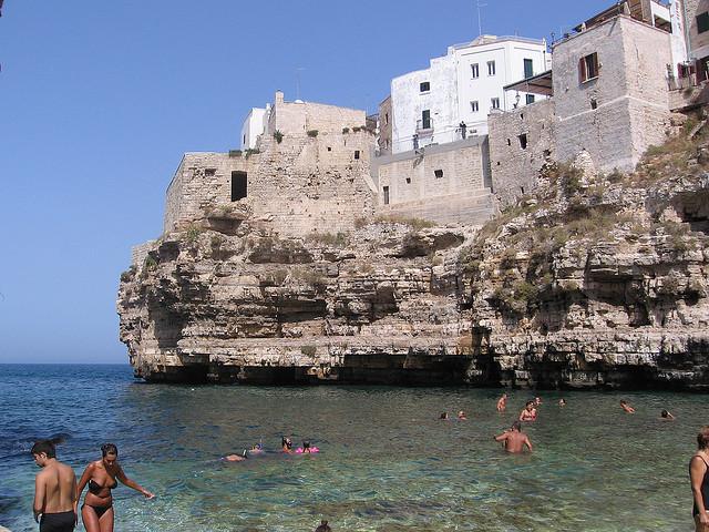 cliff beach Italy