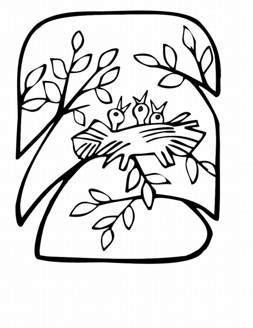 Spring coloring pages title=