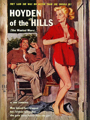 vintage pulp cover girl