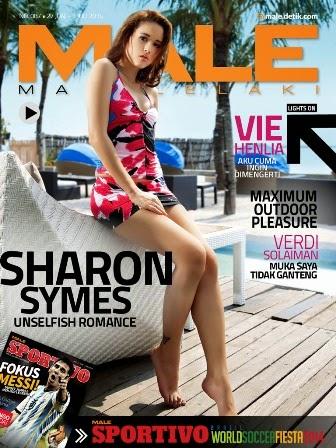 Majalah MALE Mata Lelaki Edisi 87 Cover Model Sharon Symes