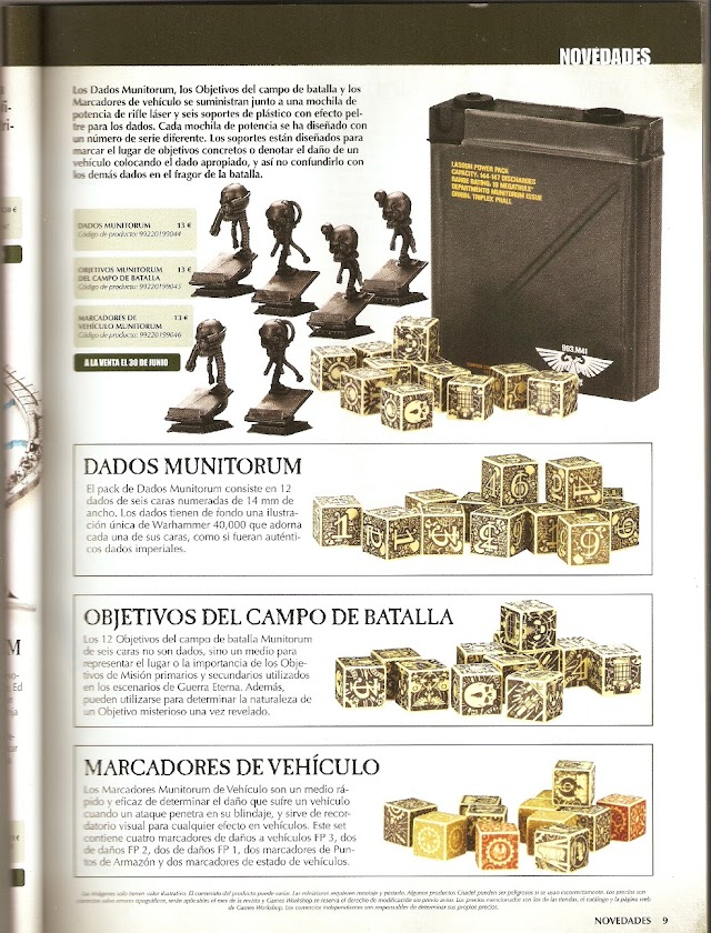 Munitorum Dice, Objective Markers, and Vehicle Damage Dice