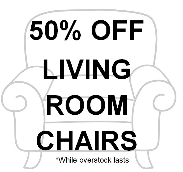 50% OFF All Living Room Chairs!