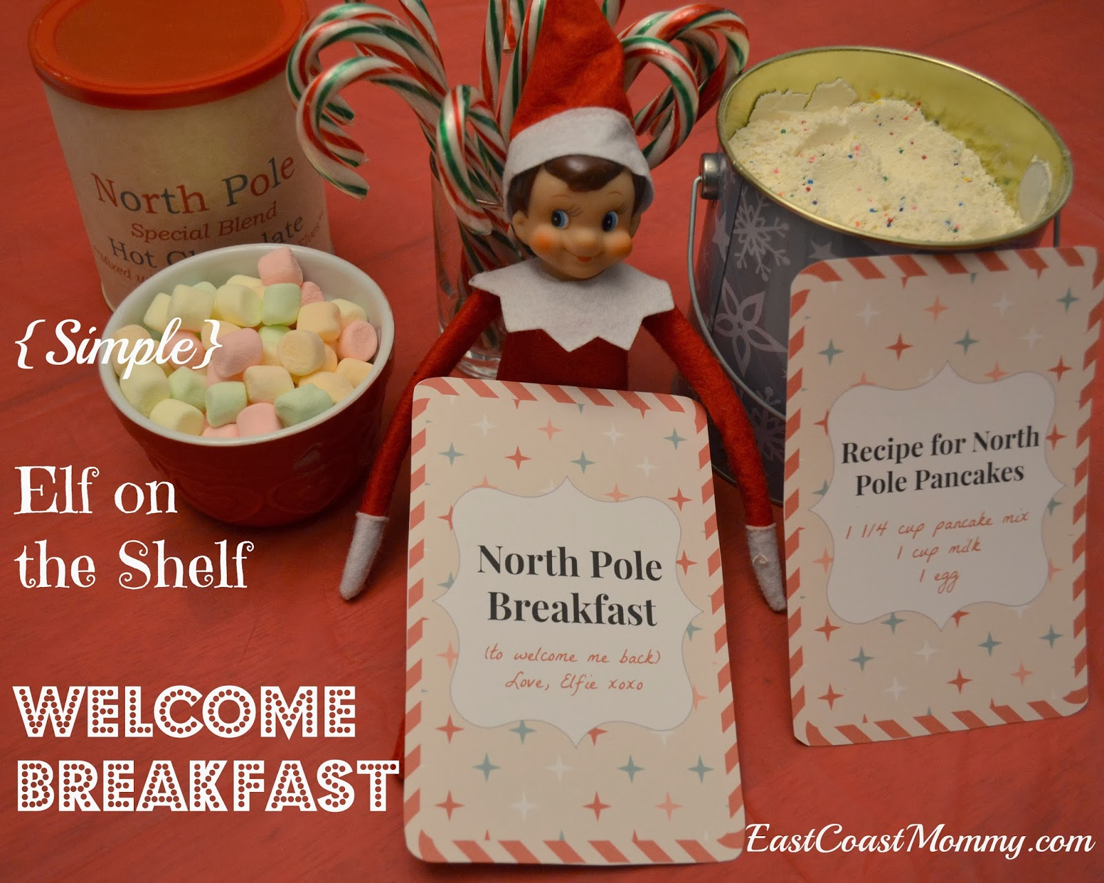 have seen a lot of Elf on the Shelf Welcome Breakfasts on Pinterest ...