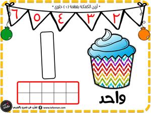 أرضيات معجون لتعلم الأرقام العربية والإنكليزية مطبوعات تفنن arabic numbers playdough mats رقم واحد