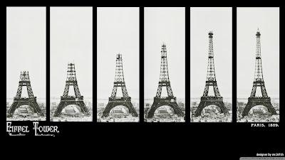 Construction of The Eiffel Tower, La Tour Eiffel, Paris, France www.thebrighterwriter.blogspot.com