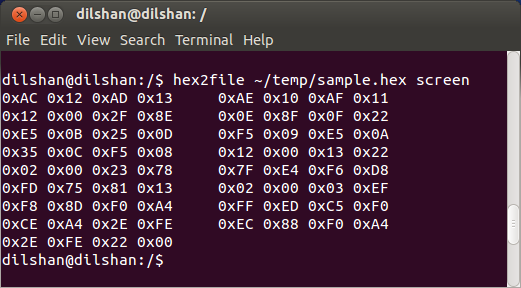 Binary to intel hex converter utility
