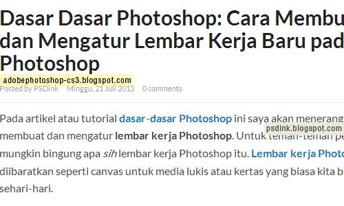 5 Trik Menggunakan Photoshop yang baik