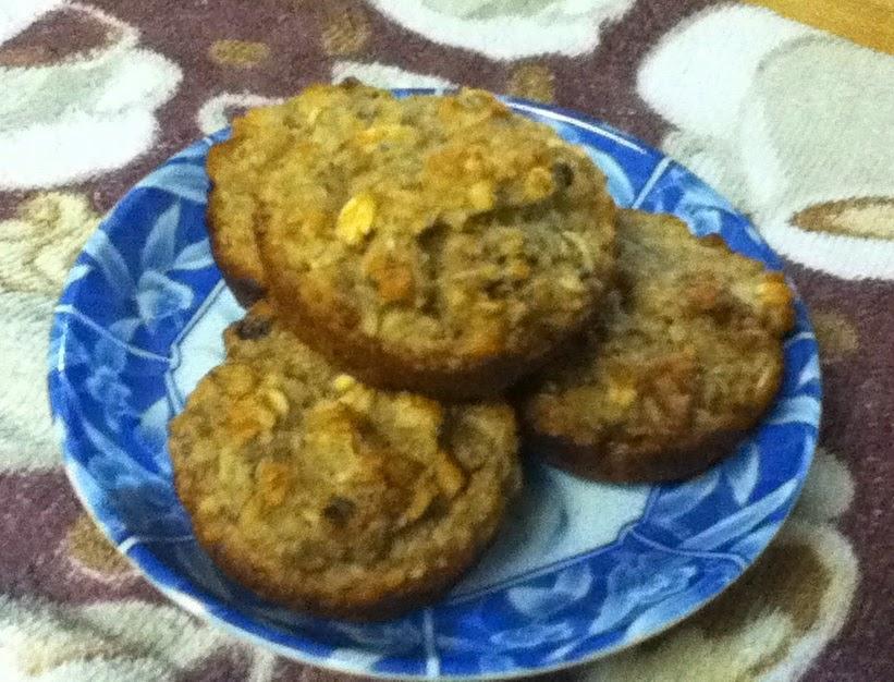 applesauce oatbran muffins