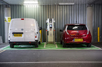 Nissan, Electric vehicle road signs in parking area