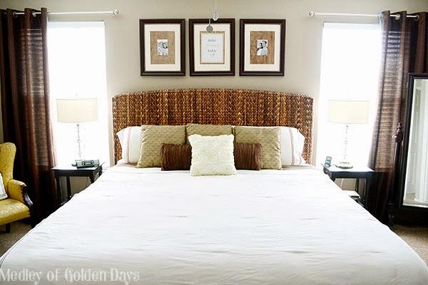 Master Bedroom from Medley of Golden Days Blog