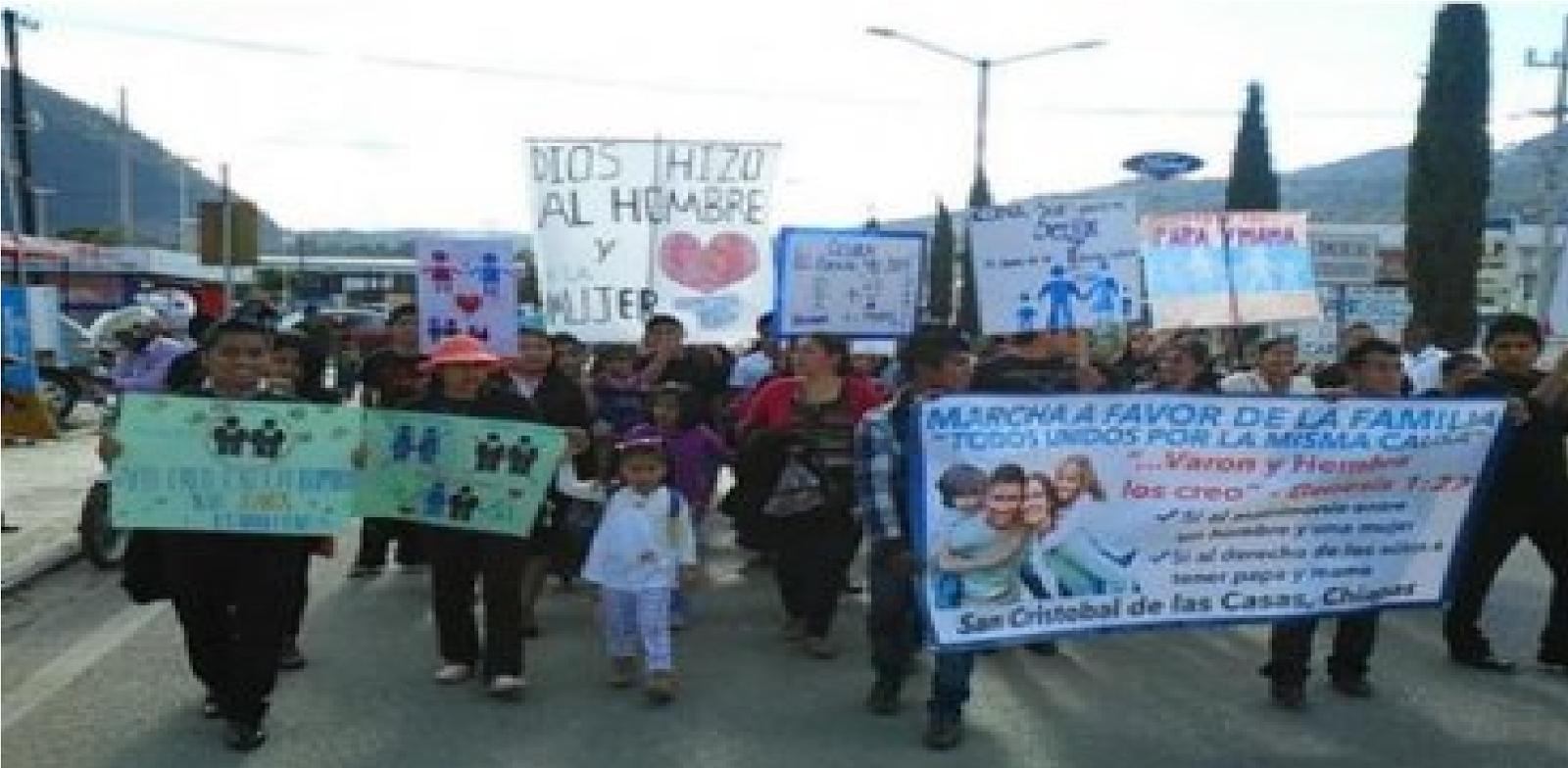 Más De Mil Evangélicos Marchan En Chiapas Contra Matrimonio Gay