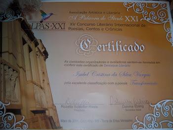 Concurso Literário Internacional-Poesia