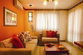 variasi cat rumah minimalis interior warna orange