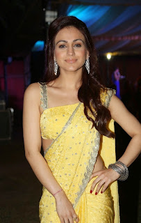 Actress Aksha Pardasany Latest Pictures in Yellow Saree at Dr Salim Audio Launch  35