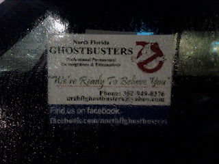 Sign for Ghostbusters of North Florida