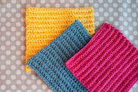 Tutorial: Ribbed Crochet Washcloths