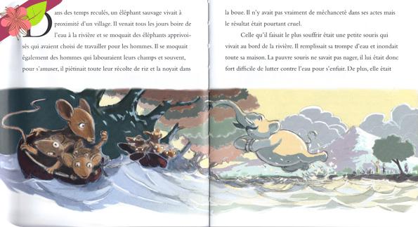 L'éléphant et la souris, conte illustré par Bruno David