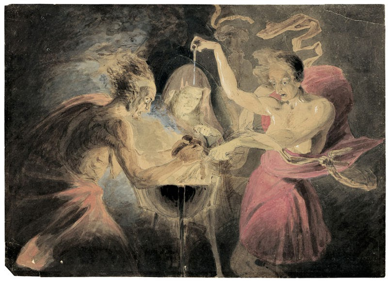 the purposes of the three witches Enter the three witches first witch  enter macbeth macbeth how now, you secret, black, and midnight hags  the flighty purpose never is o'ertook.