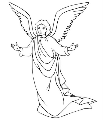 Christmas angels colouring pictures and clip art images photos for Coloring page angel