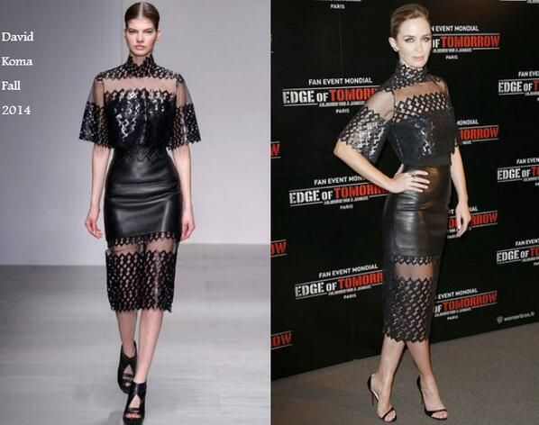 Emily Blunt in David Koma – 'Edge Of Tomorrow' Paris Premiere