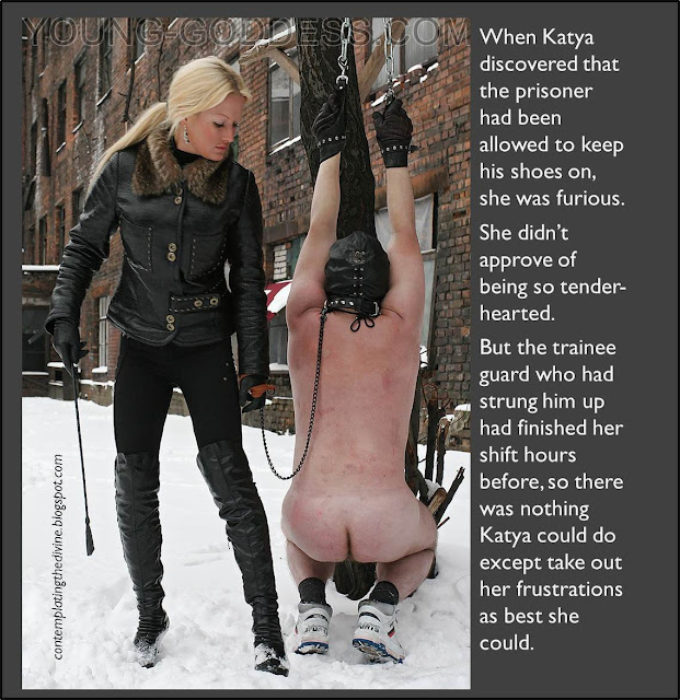 Whipped by domme in the snow
