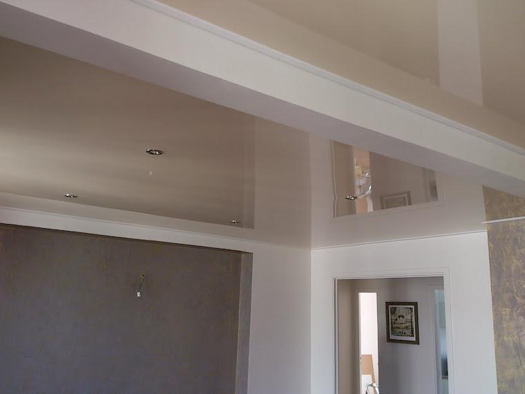 spots et lustre plafond tendu