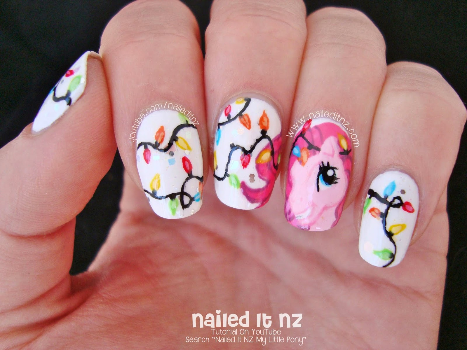 Pinkie pie nail art my little pony christmas please subscribe to my channel i generally upload a new video every friday prinsesfo Gallery