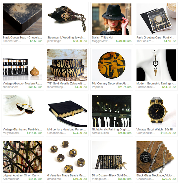 Black & Gold Sophisticate Gift Guide on Etsy #chic #sophisticated #gifts