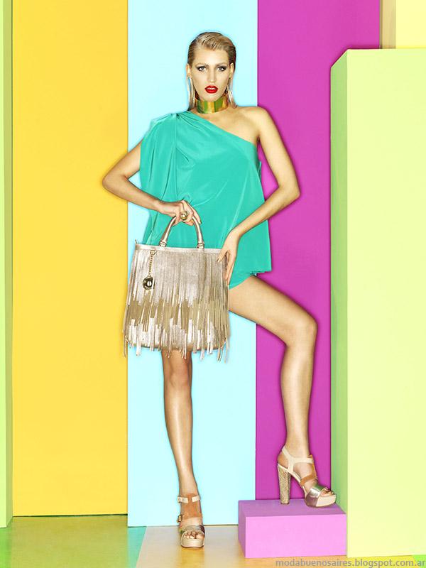 Moda primavera verano 2015 carteras y sandalias colección Carla Danelli 2015.