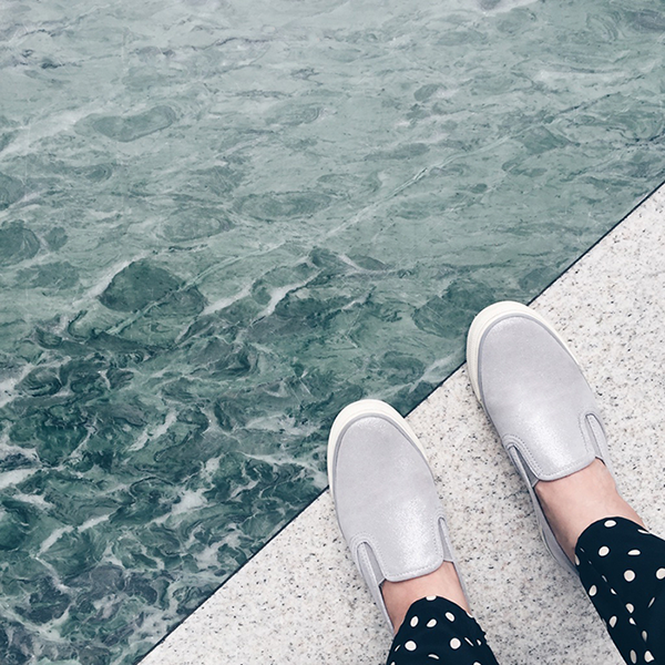 slip-on sneakers, from where I stand