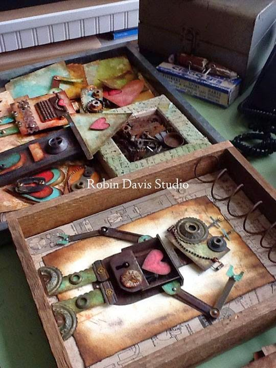 Robot Art Pieces - Robin Davis Studio