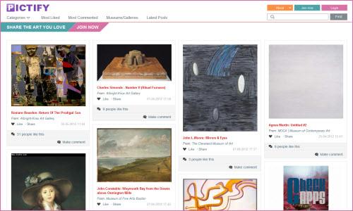 Pictify,Pinterest,arte,artistas,museos,galerías de arte,gallery
