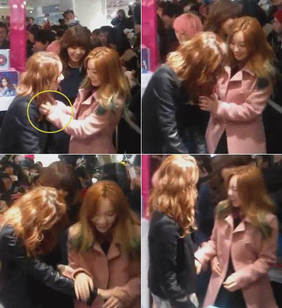 Taeyeon mencengkeram kerah Yoona