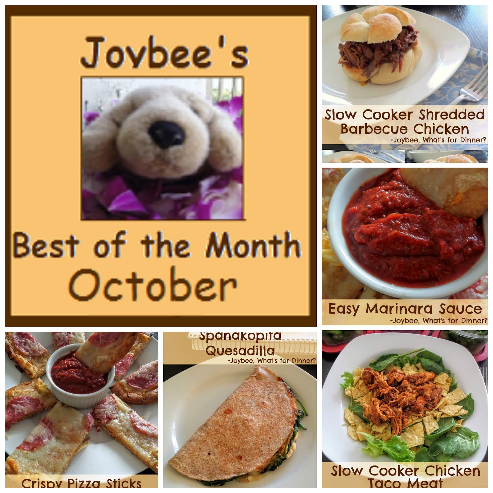 Best of the month october 2015 joybee what 39 s for dinner for October recipes
