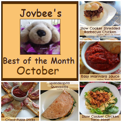 Best of the Month October 2015:  A recap of my most popular recipes from last month (October 2015).