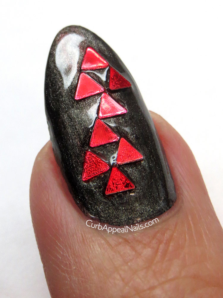 Born Pretty Store Red Metallic Triangle Glitter Review