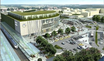 """Koncepcja wyglądu centrum """"Nowy Dworzec"""", mat. Retail Provider"""