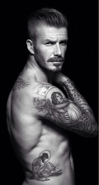 David Beckham e suas tatuagens (foto: Tumblr)