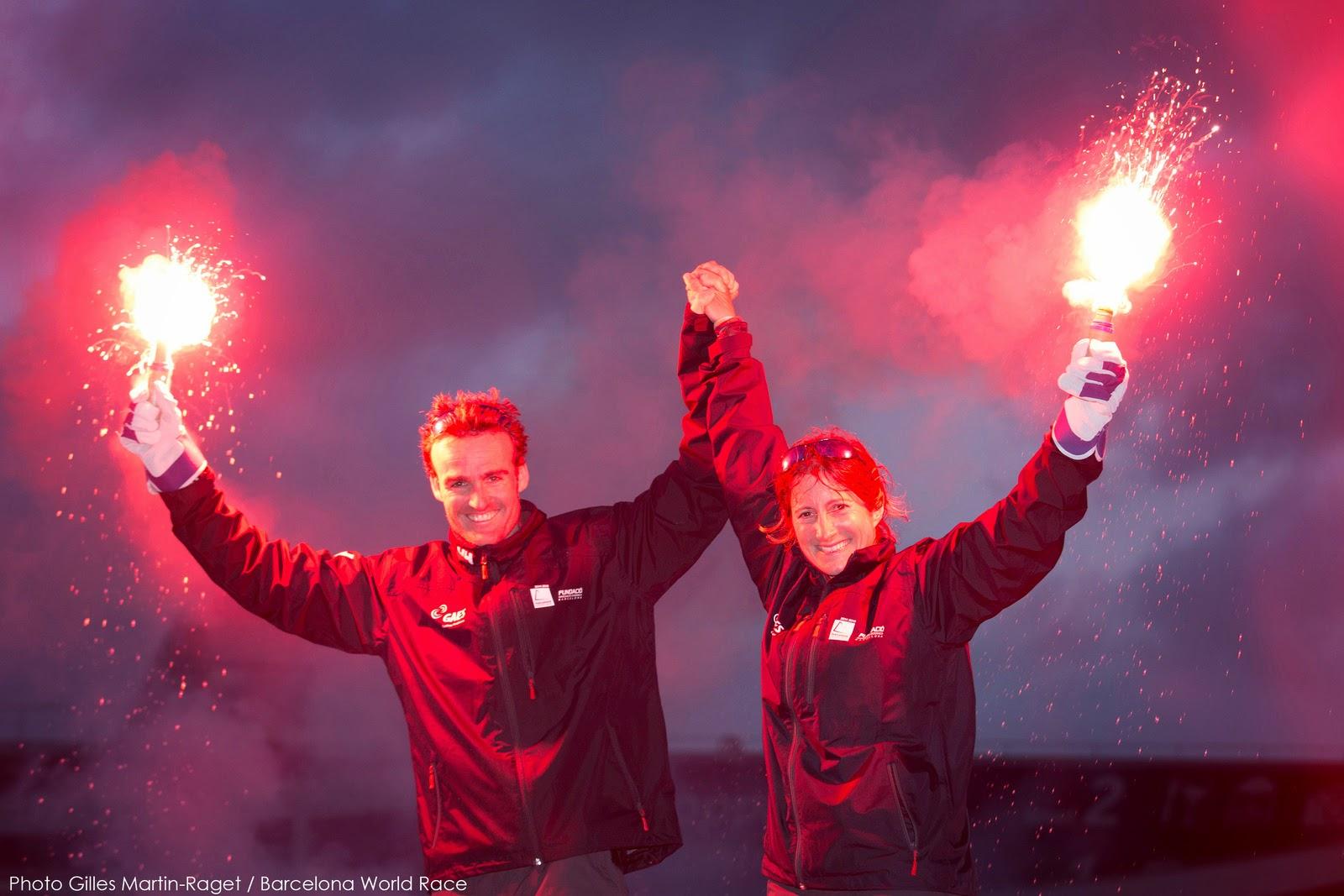 Anna Corbella et Gerard Marin troisièmes de la Barcelona World Race.